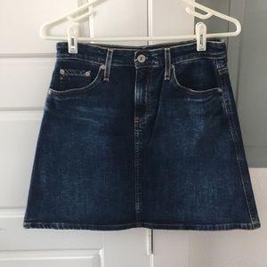 AG The Ali A-Line Denim Skirt EUC Size 27